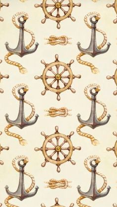 Collection of nautical watercolor illustrations, wedding invitations and patterns Nautical Clipart, Nautical Prints, Nautical Pattern, Nautical Theme, Nautical Mile, Nautical Background, Scrapbook Background, Paper Background, Scrapbook Paper