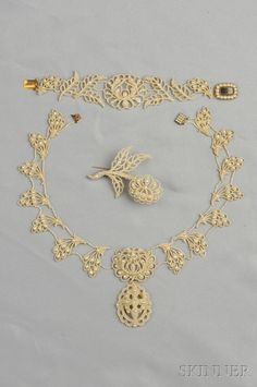 Antique Seed Pearl Suite   Sale Number 2624B, Lot Number 227   Skinner Auctioneers