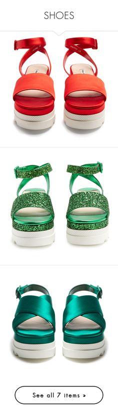 """SHOES"" by vvvan99 on Polyvore featuring shoes, sandals, ankle wrap sandals, rose shoes, miu miu shoes, miu miu, ankle wrap shoes, monk-strap shoes, denim shoes et metallic strappy sandals"