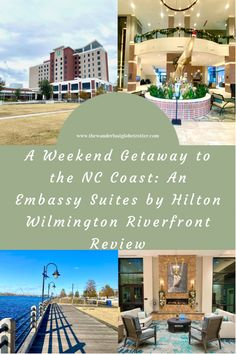 If you're looking for the perfect weekend getaway with the family, check out our experience at The Embassy Suites by Hilton Wilmington Riverfront. We had a lovely weekend exploring the area and we're already missing the beautiful view of the Cape Fear River! Best Family Resorts, Cities In North Carolina, Kure Beach, Embassy Suites, Wrightsville Beach, Family Weekend, Have A Lovely Weekend, Carolina Beach, Travel Inspiration