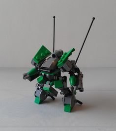 Mechs built from Legos For the game; Mobile Frame Zero.  the Grappler: by Sagethe13th      Check out his flickr stream.