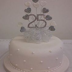 Zucchini cake with pine nuts - Clean Eating Snacks Diamond Wedding Anniversary Cake, Diamond Wedding Cakes, Anniversary Cake Designs, 25 Anniversary Cake, Anniversary Decorations, Silver Anniversary, Ruby Wedding, Anniversary Ideas, Wedding Ceremony Ideas