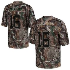 e774b85fdf1 Nike San Francisco 49ers #16 Joe Montana Elite Camo Realtree Youth Stitched Jersey  Nfl T