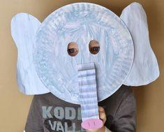 Ele-fun Paper Plate Mask | AllFreeKidsCrafts.com