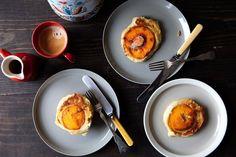 Caramelized Peach Pancakes recipe
