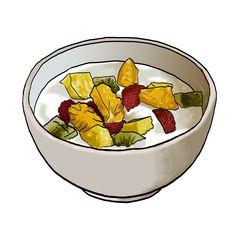 Tazón de yogur con frutas