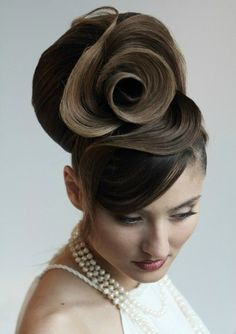 Beautiful rose hair updo; unique hairstyle