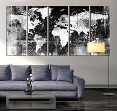 Canvas+Print++Black+and+White+World+Map+Wall+by+acrylicpainting76
