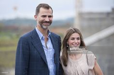 Prince Felipe de Borbon of Spain and his wife Princess Letizia Ortiz, pose for a picture during their visit to the expansion works of the Panama Canal, on October 04, 2012 in Panama City, Panama.