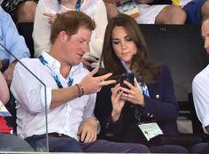 Perhaps Uncle Harry is seeing his nephew doing something cute on Mum's phone!