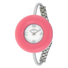 Marc by Marc Jacobs Donut White Dial Pink Stainless Steel Bangle Ladie – Goldia.com