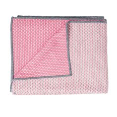 Merino Lambswool Throw – Made in England – Classic Clarendon Grey and Hot Pink Throw - Tori Murphy Ltd Fabric Patterns, Print Patterns, Pink Grey, Hot Pink, Unique Christmas Stockings, Pink Throws, Oven Glove, Blanket Stitch, Hand Weaving