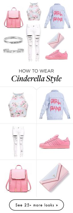 """""""#CasualGirly"""" by elaine-bustos on Polyvore featuring Boohoo, adidas Originals, Disney and Gucci"""