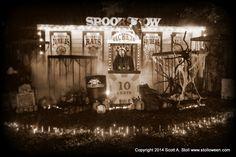 Scott Stoll, aka Stolloween, the papier mache KING spookshow Halloween