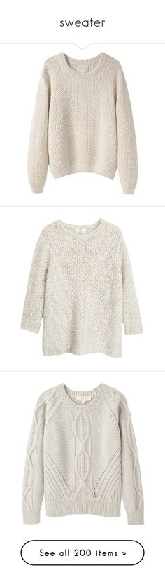 """""""sweater"""" by sinyukovayulya ❤ liked on Polyvore featuring tops, sweaters, shirts, jumpers, long sleeve collar shirt, pink sweater, pink long sleeve shirt, chunky sweaters, collared shirt and long sleeve shirts"""