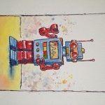 Red Steel Robot
