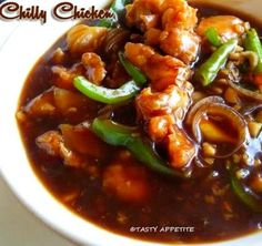 Tasty Appetite: Spicy Chilly Chicken Gravy Recipe / Restaurant Sty...