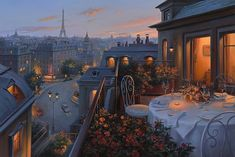 Surreal twilight cityscapes by Russian artist Evgeny Lushpin   #art #city #citylight #cityscape #dawn #evgenylushpin #landscape #light #lightart #painting #photorealism #russia #twilight