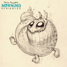 Let's go swimming! #morningscribbles