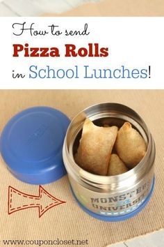 Stop sending sandwiches every day in your kids school lunch box. Learn how to send pizza rolls in school lunches --> http://www.couponcloset.net/send-pizza-rolls-school-lunches/?utm_campaign=coschedule&utm_source=pinterest&utm_medium=Carrie%20from%20CouponCloset.net%20(Coupon%20Closet)&utm_content=How%20to%20Send%20Pizza%20rolls%20in%20School%20lunches #schoollunch #backtoschool