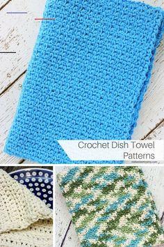 Crochet Dish Towel Patterns - #dishtowels Crochet Dish Towels, Crochet Kitchen Towels, Crochet Dishcloths, Crochet Yarn, Free Crochet, Beginner Crochet, Hot Pads, Crochet Purse Patterns, Knitting Patterns
