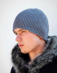 trendy crochet beanie pattern for men winter Mens Crochet Beanie, Mens Beanie Hats, Knit Hat For Men, Crochet Beanie Pattern, Slouchy Beanie, Crochet Patterns, Hat Patterns, Alpaca Gifts, Winter Hats For Men