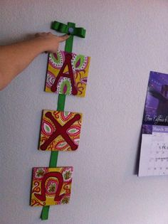 cute & easy way to display letters.