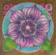 ⊰❁⊱ Mandala ⊰❁⊱  Flor de Loto por Samantha Rochard.