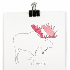 ORIGINAL ILLUSTRATION // Moose