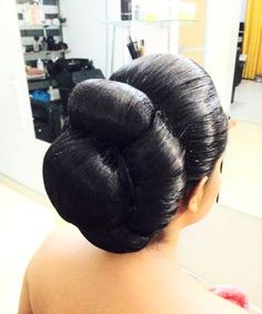 formal juda updo for when you have oil in your hair