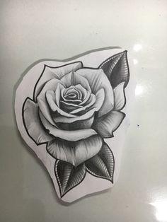 Rose Drawing Tattoo, Tattoo Drawings, Body Art Tattoos, Sleeve Tattoos, Rose Flower Tattoos, Black Rose Tattoos, Flower Tattoo Designs, Beste Tattoo, Tattoo Stencils