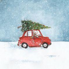 Christmas Canvas Art, Christmas Drawing, Christmas Paintings, New Year Illustration, Christmas Illustration, Illustrations, Cosy Christmas, Christmas Crafts, Christmas Decorations