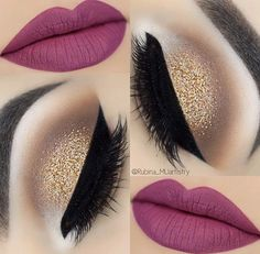 Pink lips and gold eye makeup Lady Style - Make Up 2019 Cute Makeup, Gorgeous Makeup, Pretty Makeup, Makeup Looks, Amazing Makeup, Gold Eye Makeup, Skin Makeup, Eyeshadow Makeup, Mac Makeup