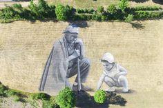 Guillame Legros's Ephemeral Landart Land Art, Festival D'art, Street Wall Art, Street Installation, Urbane Kunst, Graffiti Artwork, Large Artwork, Street Artists, Urban Art
