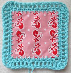 Millie's Closet red leaves on pink by BeeInMyBonnet