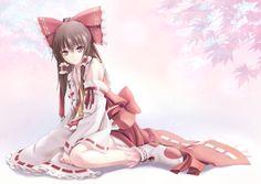 """""""twinmaikosyu:  bow brown hair hakurei reimu japanese clothes miko red eyes sudakei touhou - Konachan: Anime Wallpapers  """""""