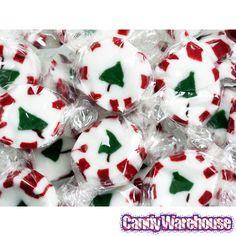 Brach's Peppermint Christmas Tree Nougats: 40-Piece Bag