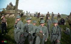 """""""""""These young German soldiers, likely taken directly from the rank of a local Hitler Youth group, were captured somewhere outside of Leipzig Germany in May of Armored Division Leipzig Germany, Mg34, Recent Discoveries, History Online, Panzer, Luftwaffe, Military History, Ww1 History, Military Units"""