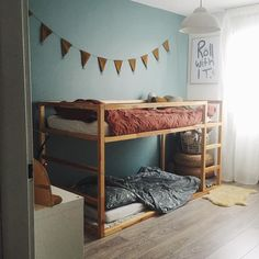 Inspiring Shared Kids Room Ideas For Twins is part of Kids room bed - Building cabinet beds is an excellent way to create privacy in a shared room while creating a unique kids decor […] Kids Room Bed, Kids Bunk Beds, Girl Room, Girls Bedroom, Bunkbeds For Small Room, Boys Bunk Bed Room Ideas, Room For Two Kids, Low Bunk Beds, Trendy Bedroom