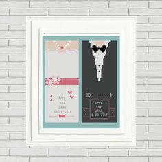 Wedding cross stitch pattern/wedding favors/wedding bookmark/bride and groom/ just married/wedding pattern/cross stitch wedding by CrossStitchFactory on Etsy