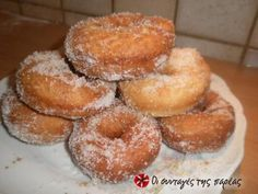 Greek Sweets, Greek Desserts, Greek Recipes, Donut Recipes, Wine Recipes, Cooking Recipes, Easy Sweets, Vegan Sweets, Cheesecake Recipes