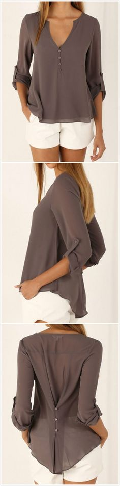 Nice blouse, would choose a brighter color