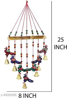 Wind Chimes Stylish Home Hanging Wind Chimes Material: Terracotta Size (L X W X H): 30 cm x 5 cm x 50  cm Description: It Has 1 Piece of Hanging Wind Chimes Work: Handcrafted Country of Origin: India Sizes Available: Free Size *Proof of Safe Delivery! Click to know on Safety Standards of Delivery Partners- https://ltl.sh/y_nZrAV3  Catalog Rating: ★4.1 (1632)  Catalog Name: Stylish Home Hanging Wind Chimes Vol 1 CatalogID_321271 C127-SC1619 Code: 881-4936686-