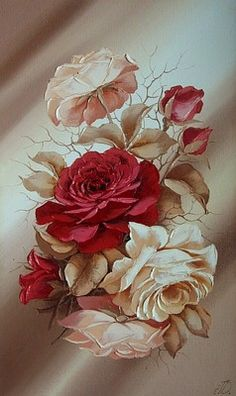 art-and-dream: Art painting still life roses by Domnina