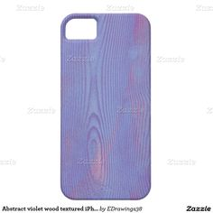 #Abstract #violet #wood textured #iPhone 5/5S #case