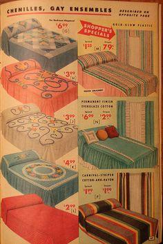 1957  wish I had these now! Vintage Room, Vintage Sheets, Vintage Decor, Vintage Bedrooms, Vintage Bedding, 70s Decor, Vintage Kitchen, Casa Retro, Retro Home