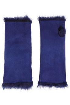 Karl Donoghue Fingerlose Handschuhe aus Shearling   NET-A-PORTER