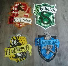 Harry Potter crests perler beads by Perlerwonders