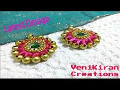 106: Latest Saree Tassel Border with Wrapped Donuts@ Home - Design 45::Tutorial - YouTube