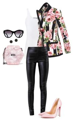 """""""Untitled #34"""" by anacha on Polyvore featuring Vince, Dolce&Gabbana, Helmut Lang, Christian Louboutin and Edie Parker"""